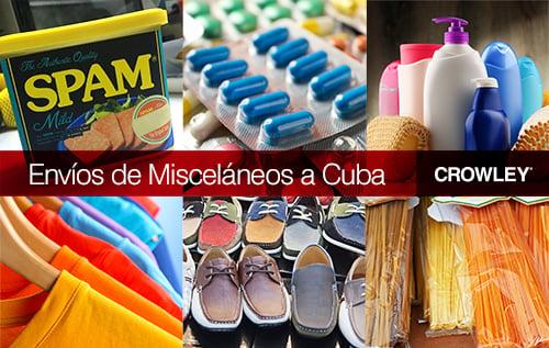 Envíos de Misceláneos a Cuba
