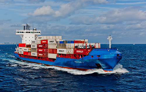 Crowley- one to three day vessel transits to key markets in the Caribbean Basin